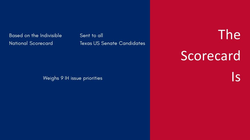 Indivisible Houston Senate Scorecard