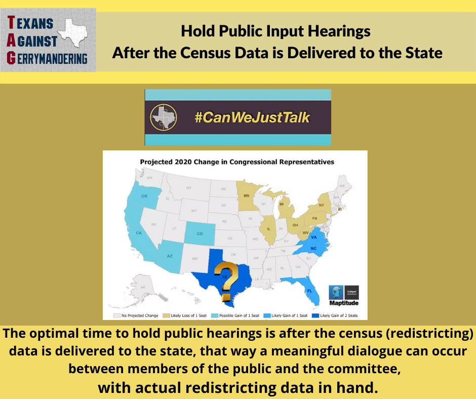 Hold Public Hearings After Census Data