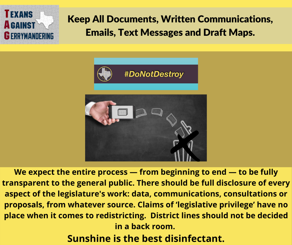 Keep All Documents, Communications